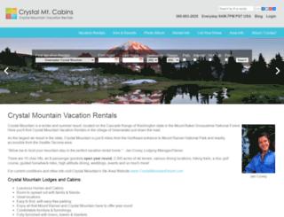 crystalcabins.com screenshot