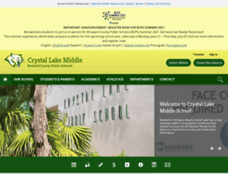 crystallake.browardschools.com screenshot
