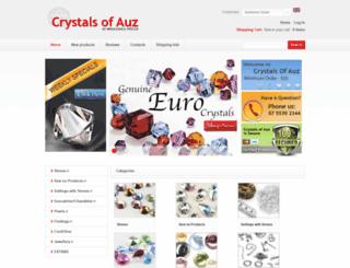 crystalsofauz.com.au screenshot