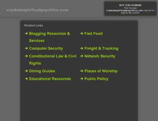 crystalsspiritualpsychics.com screenshot
