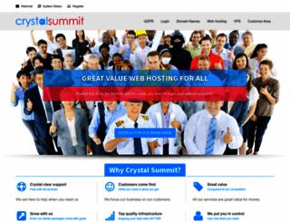 crystalsummit.net screenshot