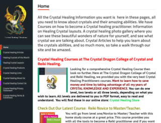 crystalvibrations.org screenshot