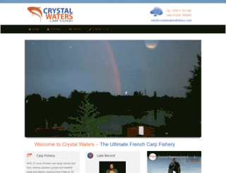 crystalwatersfishery.com screenshot