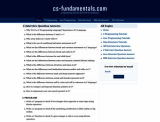 cs-fundamentals.com screenshot