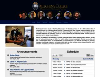 cs.allegheny.edu screenshot