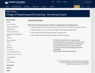 cs.armstrong.edu screenshot