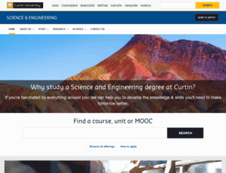 cs.curtin.edu.au screenshot