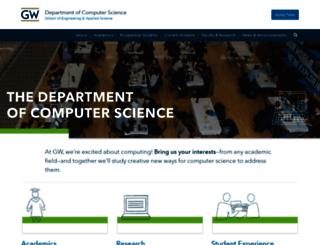 cs.gwu.edu screenshot