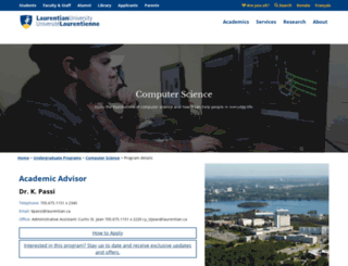 cs.laurentian.ca screenshot
