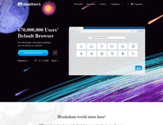 cs.maxthon.com screenshot
