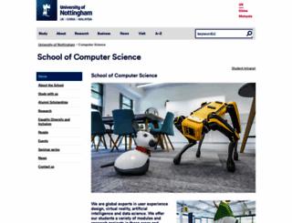 cs.nott.ac.uk screenshot