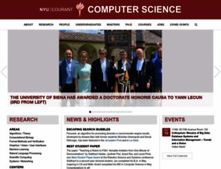 cs.nyu.edu screenshot