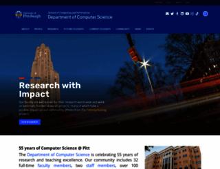 cs.pitt.edu screenshot