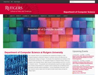 cs.rutgers.edu screenshot