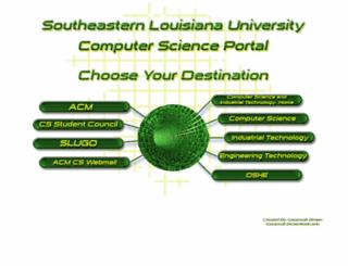 cs.selu.edu screenshot