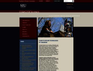 cs.siu.edu screenshot