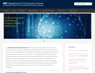 cs.uci.edu screenshot