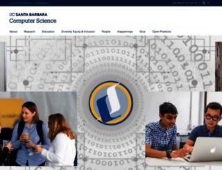 cs.ucsb.edu screenshot