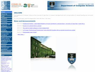 cs.uct.ac.za screenshot