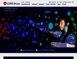 cs.uic.edu screenshot