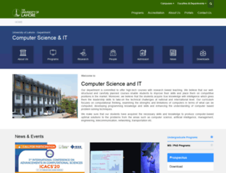 cs.uol.edu.pk screenshot