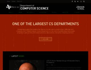 cs.utdallas.edu screenshot