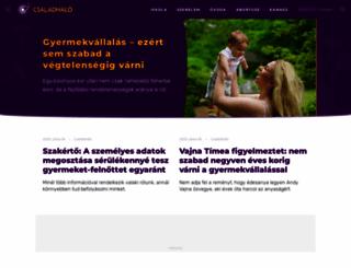 csaladhalo.hu screenshot