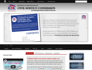csc.gov.ph screenshot