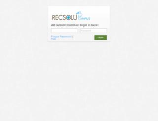 csc.recsolucampus.com screenshot