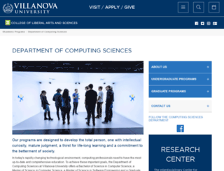 csc.villanova.edu screenshot