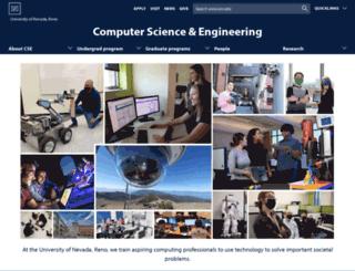 cse.unr.edu screenshot