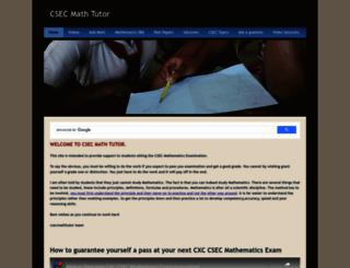 csecmathtutor.com screenshot