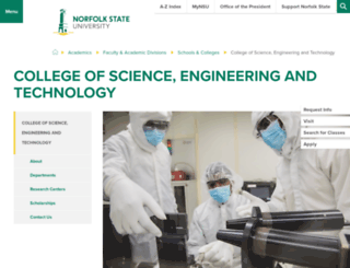 cset.nsu.edu screenshot
