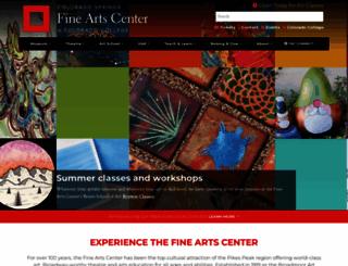 csfineartscenter.org screenshot