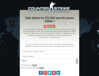 csgo-generator.com screenshot