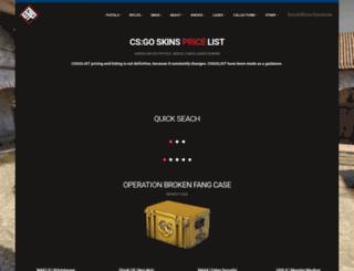 csgolist.com screenshot