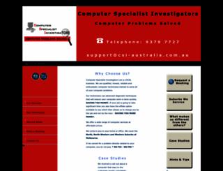 csi-australia.com.au screenshot