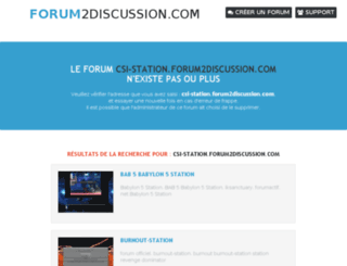 csi-station.forum2discussion.com screenshot