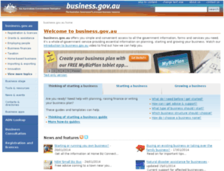 csi.business.gov.au screenshot