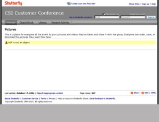 csicustomerconference.shutterfly.com screenshot