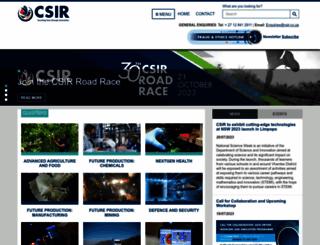 csir.co.za screenshot