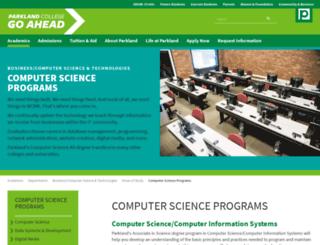 csit.parkland.edu screenshot