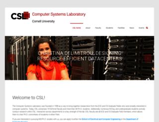 csl.cornell.edu screenshot