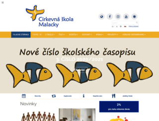 csmalacky.edupage.org screenshot