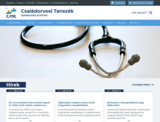 csot.semmelweis.hu screenshot