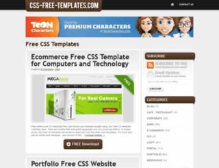 css-free-templates.com screenshot