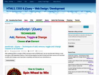css-jquery-design.com screenshot