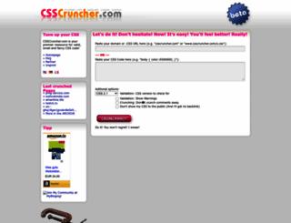 csscruncher.com screenshot