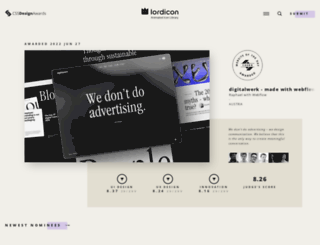cssdesignawards.com screenshot