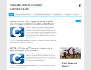 cssimplified.com screenshot
